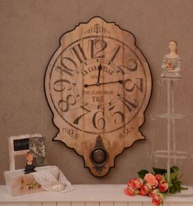 Grande Horloge Murale Pendule Français Style Maison De Campagne