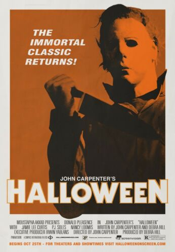 Halloween 1978 Vintage Retro Poster Print A0-A1-A2-A3-A4-A5-A6-MAXI C140