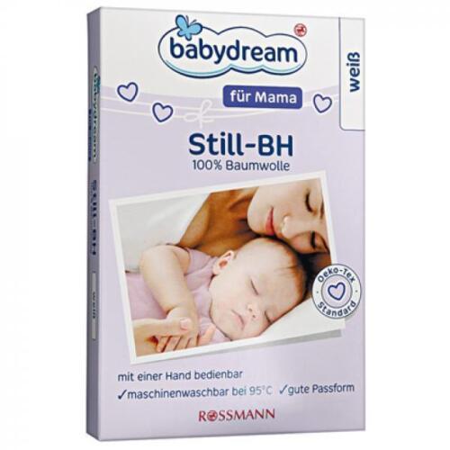babydream für Mama Still-BH Größe 85D in weiß 100/% Baumwolle bei 95° waschbar
