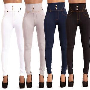Women-High-Waist-Black-Leggings-Ladies-Print-Jeggings-Style-Trousers