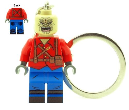 Custom Minifigure Eddie The Trooper Mascot Keychain Printed on LEGO Parts