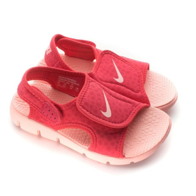 567445abb6d3 Nike Sunray Adjust 4 Pink Coral Youth Girl s Sandal Sz 4 Y Fast Ship ...