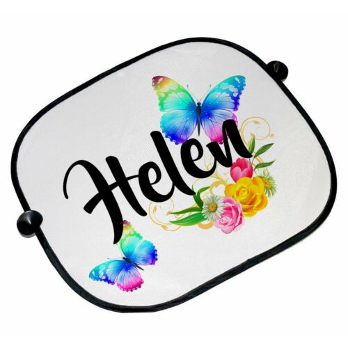 Brand New Personalised Beautiful Butterflies /& Flowers Car Sun Shades
