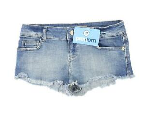 Womens-Topshop-Blue-Denim-Shorts-Size-8-L1