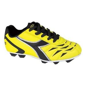 4d7ca49dc9 Details about Diadora Capitano MD Jr Yellow Black Kids Youth Soccer Cleats  Boys Girls