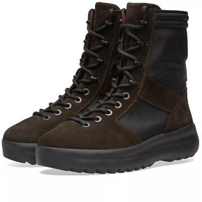 Yeezy Season 3 Boots, ONYX suede