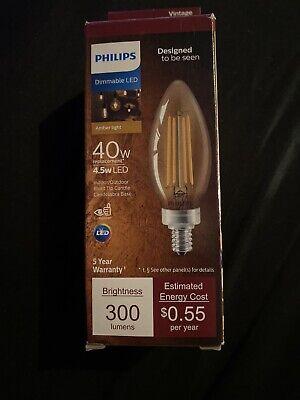 739 3 Pack EcoSmart 40-Watt Equiv B11 Dimmable Vintage Edison LED Light Bulb