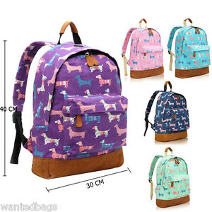 Image Is Loading Las Sausage Poodle Dog Canvas Backpack Rucksack