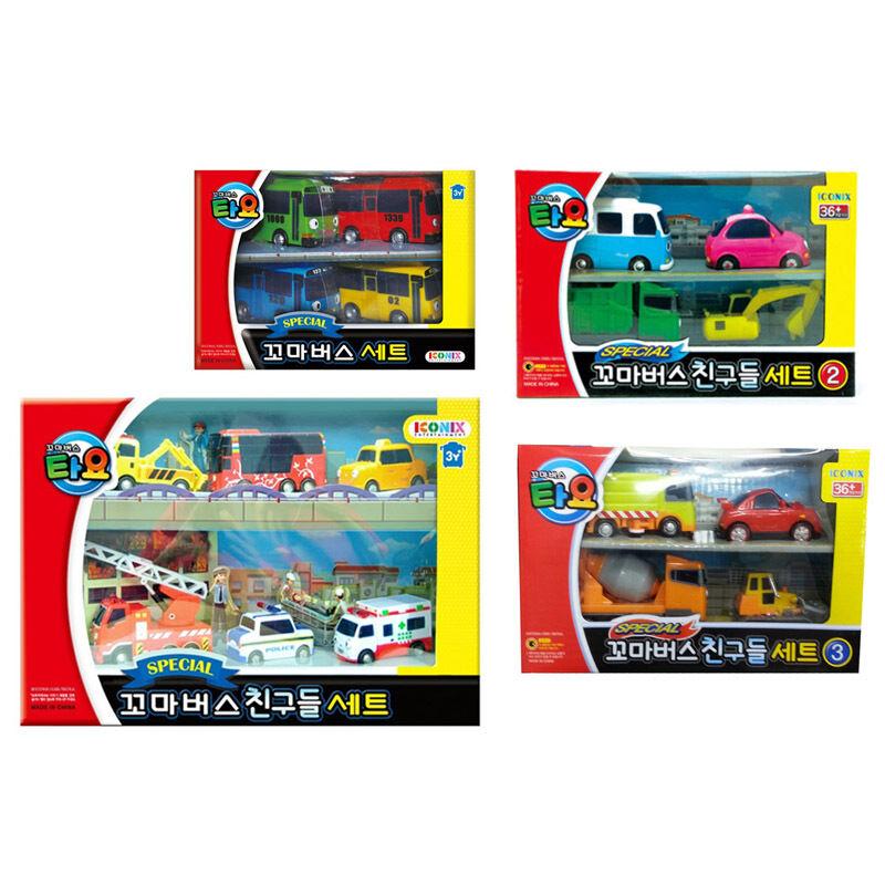 liten buss TAYO särskild Mini Bil Set 18 -Pcs Tayo och Tayo vänner