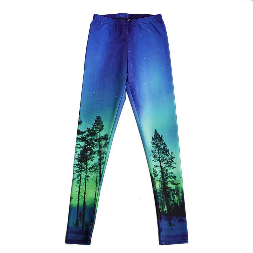 Women leggings Universe Colourful Galaxy printed  S-4XL  slim legging 3007