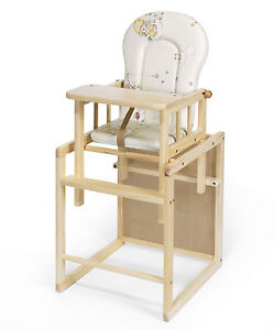 baby hochstuhl kombi hochstuhl xxl umbaubar kiefer 4260266451756 ebay. Black Bedroom Furniture Sets. Home Design Ideas