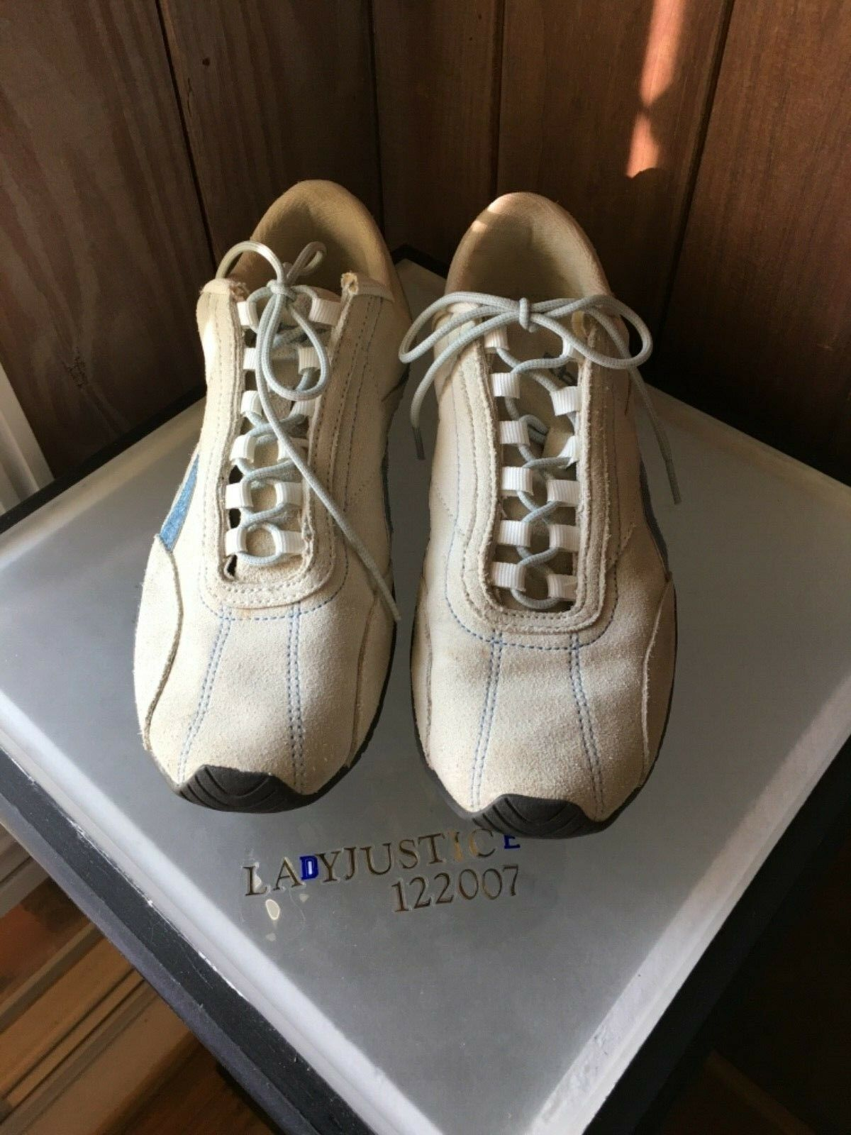 Reebok Crema Gamuza Tenis Zapatos Atléticos 8 para mujer-Talla 8 Atléticos 7e1958