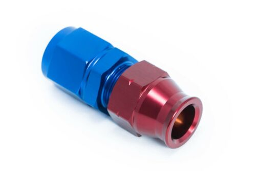"female Blau//Rot Alu-Fitting für Rohrleitung 6,5mm AN4 JIC4 1//4/"""