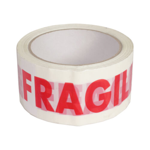 "FRAGILE PRINTED STRONG PACKING PARCEL TAPE BOX SEALING 48MM 2/""X 66M MULTILISTING"