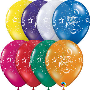 NEW-YEAR-039-S-EVE-BALLOONS-10-x-11-034-NEW-YEAR-039-S-EVE-PARTY-CELEBRATION-LATEX-BALLOONS