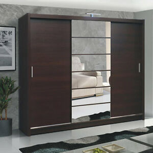 kleiderschrank malibu ii schrank mit spiegel schiebet r schwebet renschrank ebay. Black Bedroom Furniture Sets. Home Design Ideas