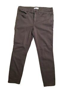 MADEWELL Brown Women's Straight Leg Skinny Skinny Khaki Pants Actual Sz 32 X 28