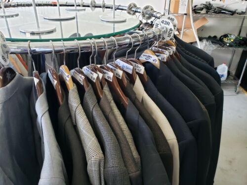 Wholesale Lot of Men's Clothing 43 Sport Coats Jac