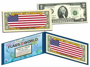 UNITED-STATES-USA-Flags-of-the-World-Genuine-Legal-Tender-U-S-2-Bill-Currency