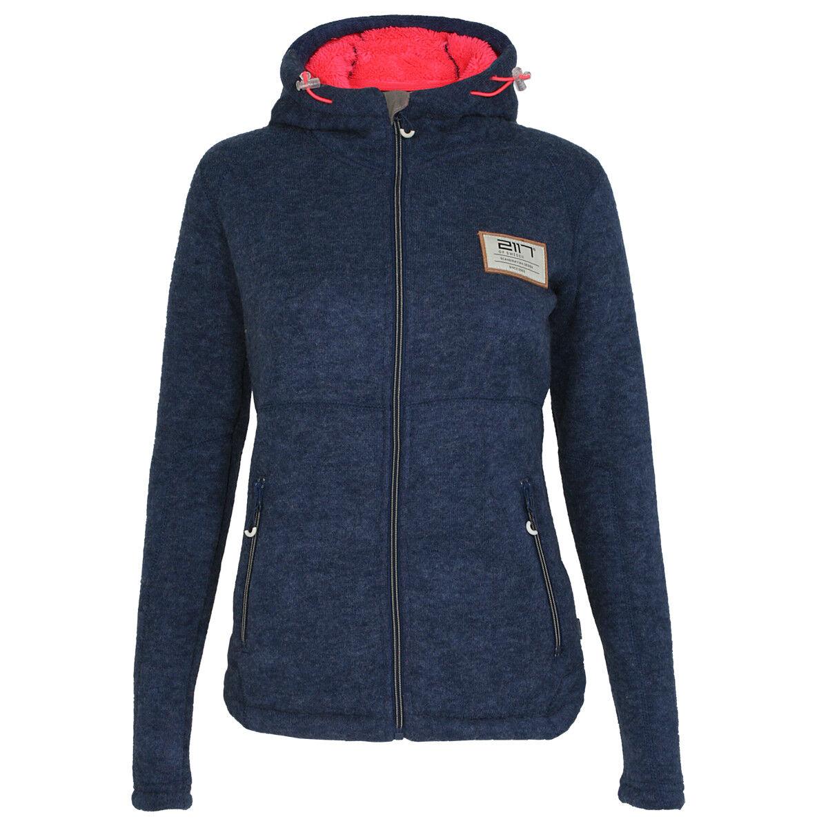 2117 of Sweden DaSie kapuzen Fleece Outdoor Jacke Borgholm Blau 7915994040