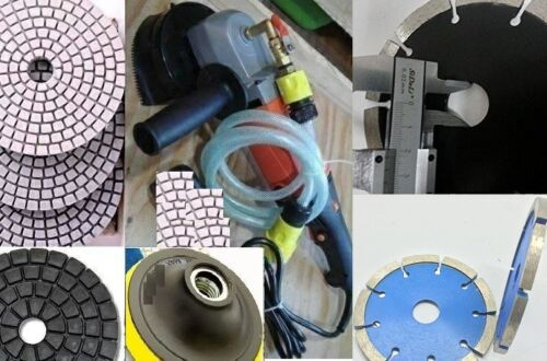 Concrete Granite Grinder Stone Cutter Wall Chaser Diamond 28 Pad 5 Blade stone