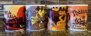 Vintage-Poster-Art-Collection-Coffee-Mug-Illustrated-Centrum-Set-of-4-Retro