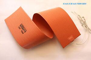 "5/"" X 30/"" 750W 220V Keenovo Musical Instrument Side Bending Silicone Heat Blanket"