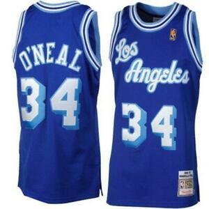 0226a7afc Los Angeles Lakers Mens Jersey Mitchell   Ness  34 Shaquille O Neal ...