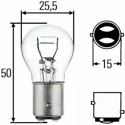 2 units Hella Bulb 12V 21//5W   82201 8GD002078-121 Single 8GD002078-121