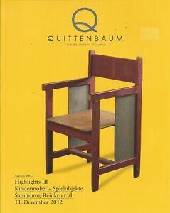 Quittenbaum Children Furniture Toys Reinke Collection Design Auction Catalog 12 Ebay