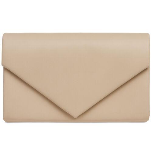 CASPAR TA362 klassisch elegante Briefumschlag Envelope Clutch Tasche Abendtasche