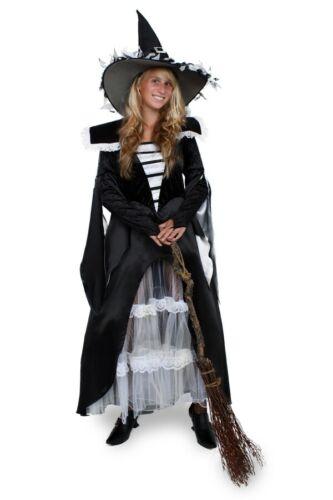 Brujas de alta calidad vestido negro carnaval disfraz negro hexenkleid nuevo