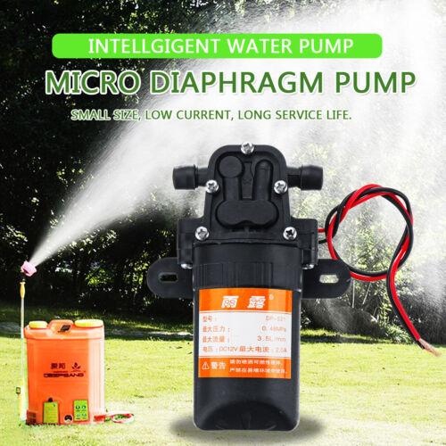 DC12V 70PSI 3.5L//mi Electric Diaphragm Water Pump Self Priming High Pressure