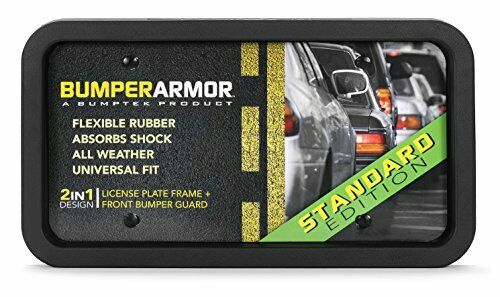 Flexible & Shock Absorbing Front Bumper License Plate Protector by BumperArmo