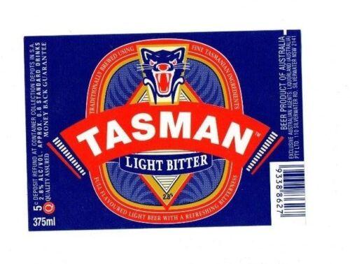 Tasman Light Bitter Australia Tasmanian Breweries Beer Label