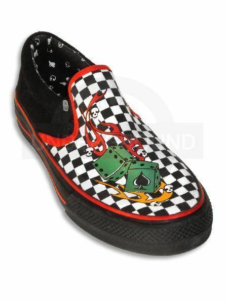 UNDERGROUND ENGLAND Slipon Rockabilly checkerboard #04