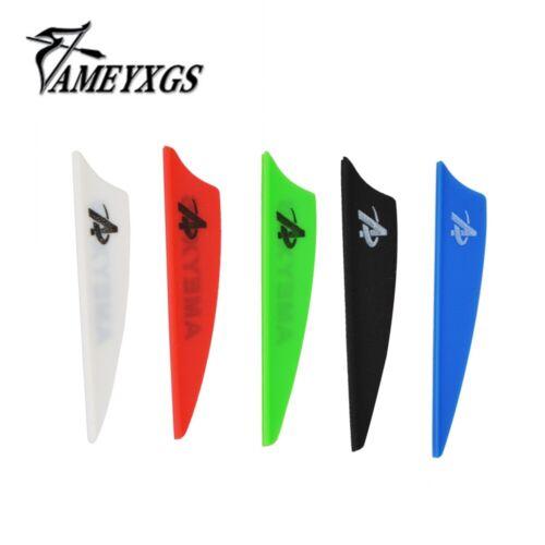 "50pcs 2/"" 3/"" 4/"" Rubber Vanes Arrow Feather Shield DIY Shaft Fletching Bow Hunting"
