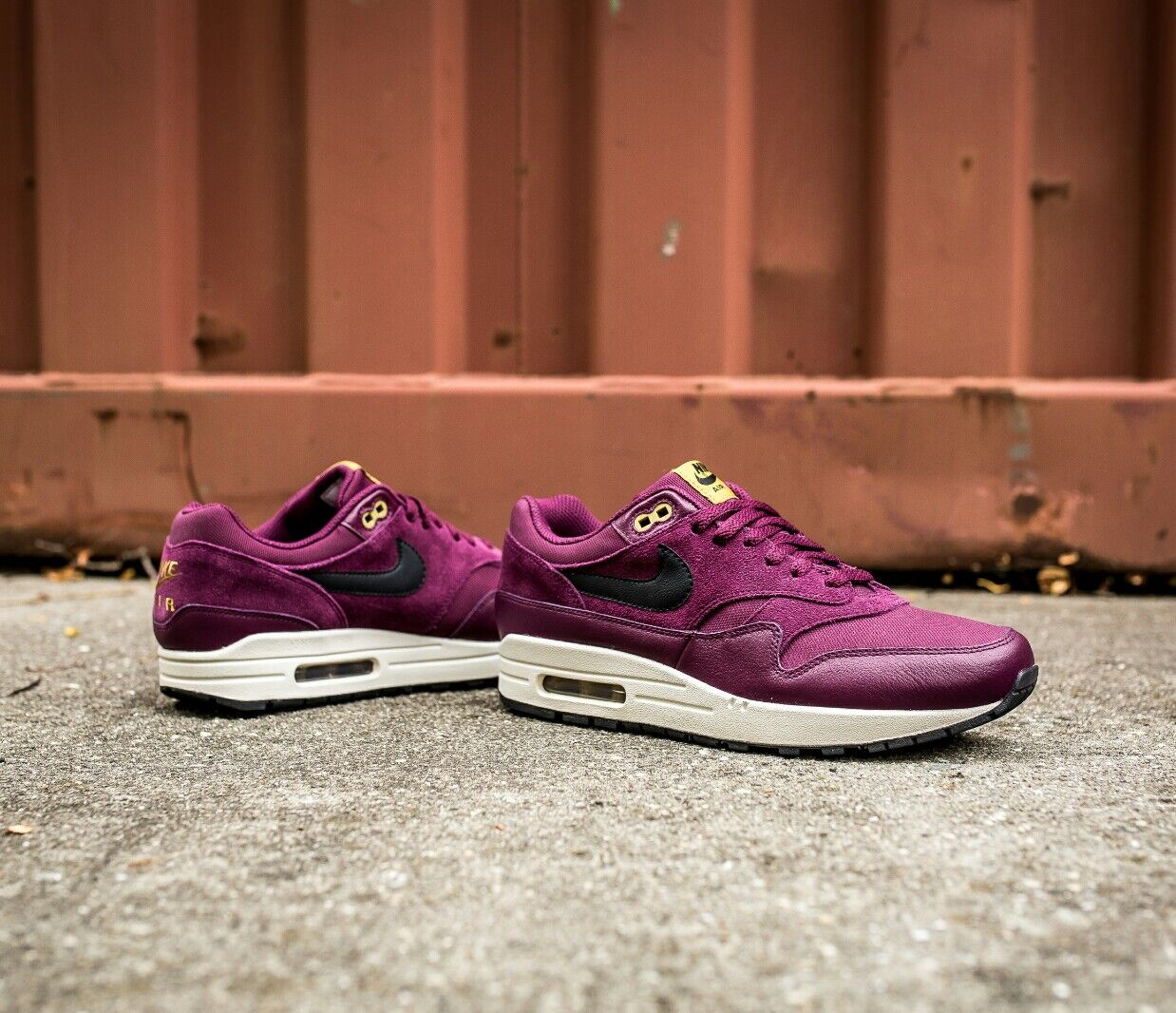 Nike air max 1 premio sonodiventate bordeaux burro extra borgogna in scarpe da ginnastica