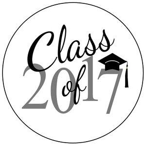 120 Graduation Class of 2017 Envelope Seals - Hershey Kiss ...