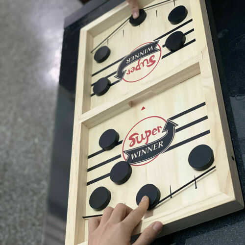 Family Games Fast Sling Puck Game Juego Child Paced SlingPuck Winner Board Toys~