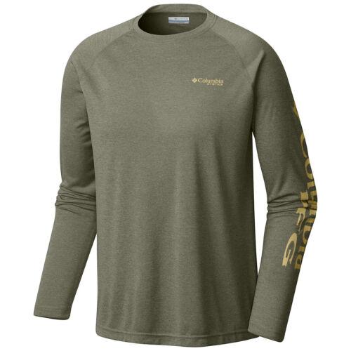 "New Mens Columbia PFG /""Terminal Tackle Heather/"" Omni-Shade T-Shirt Top Tee Polo"