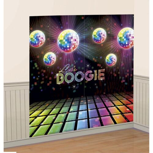1,65 x 1,65 m 70er Jahre Wanddeko Folie Disco Wandbild Party Tanzfläche Disko