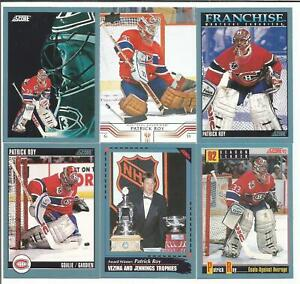 Patrick-Roy-18-Hockey-Card-Lot-Montreal-Canadiens-Colorado-Avalanche