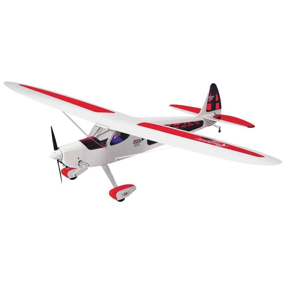 Nuovo SIG Rascal 110 Sport RC Remote Control Airplane GP/EP ARF bianca/rosso