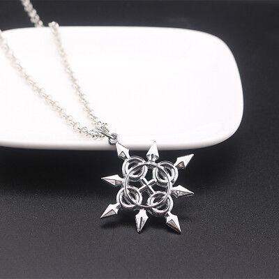 Kingdom Hearts Axel Eternal Flames Symbol Metal Necklace Pendant Amulet Lovely