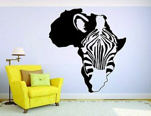 Zebra Wall Mural Vinyl Decal Sticker Decor Room Horse Africa Animal