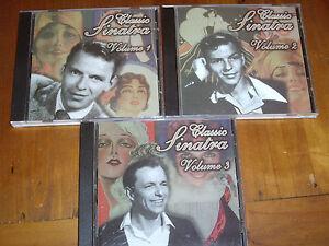 FRANK-SINATRA-RARE-SET-of-3-CDs-039-CLASSIC-SINATRA-VOL-1-2-amp-3-039-1988-EXC