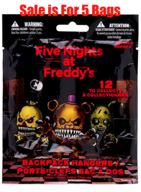 Brand New Single Hanger Blind Bag Five Nights At Freddy/'s Series 2