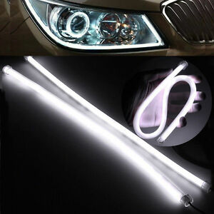 Car-Auto-Strip-Light-Daytime-Running-Light-Universial-Flexible-Soft-Tube-X2-60CM