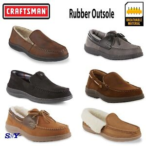 many fashionable closer at famous brand Craftsman Moccasin Cushioned Slippers Indoor Outdoor Slip-on cf | eBay
